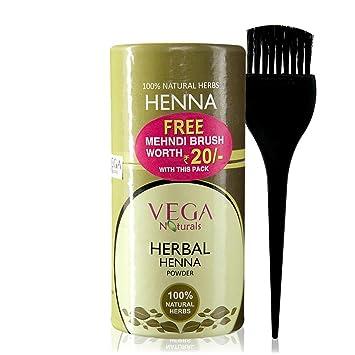 Amazon Com Vega Naturals Herbal Henna Powder 1 Kit Personal Care