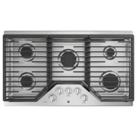 GE Profile PGP7036SLSS 36 Inch Natural Gas Sealed Burner Style Cooktop With  5 Burners, ADA