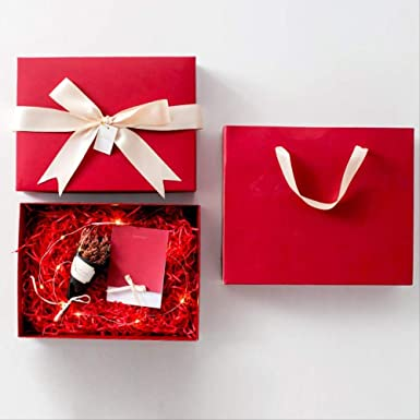 Caja de regalo Cumpleaños rectangular Papel de embalaje grande ...