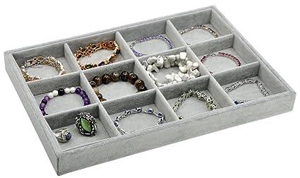 Amazoncom Jewelry Box Jewelry Display Tray Inserts 12 Grids
