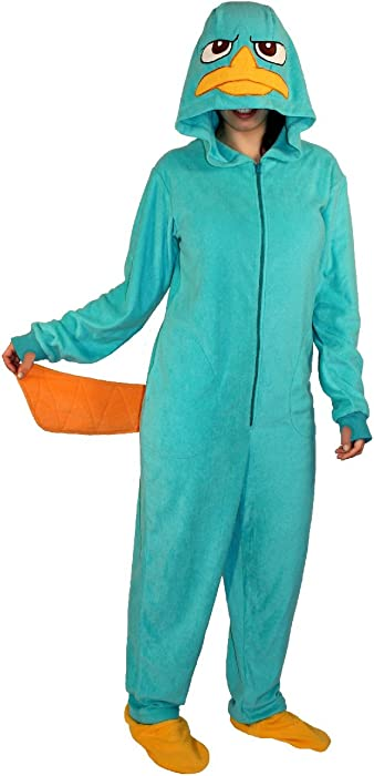 b4d6cbda6eca Amazon.com  Phineas and Ferb Perry the Platypus Adult Hooded One ...
