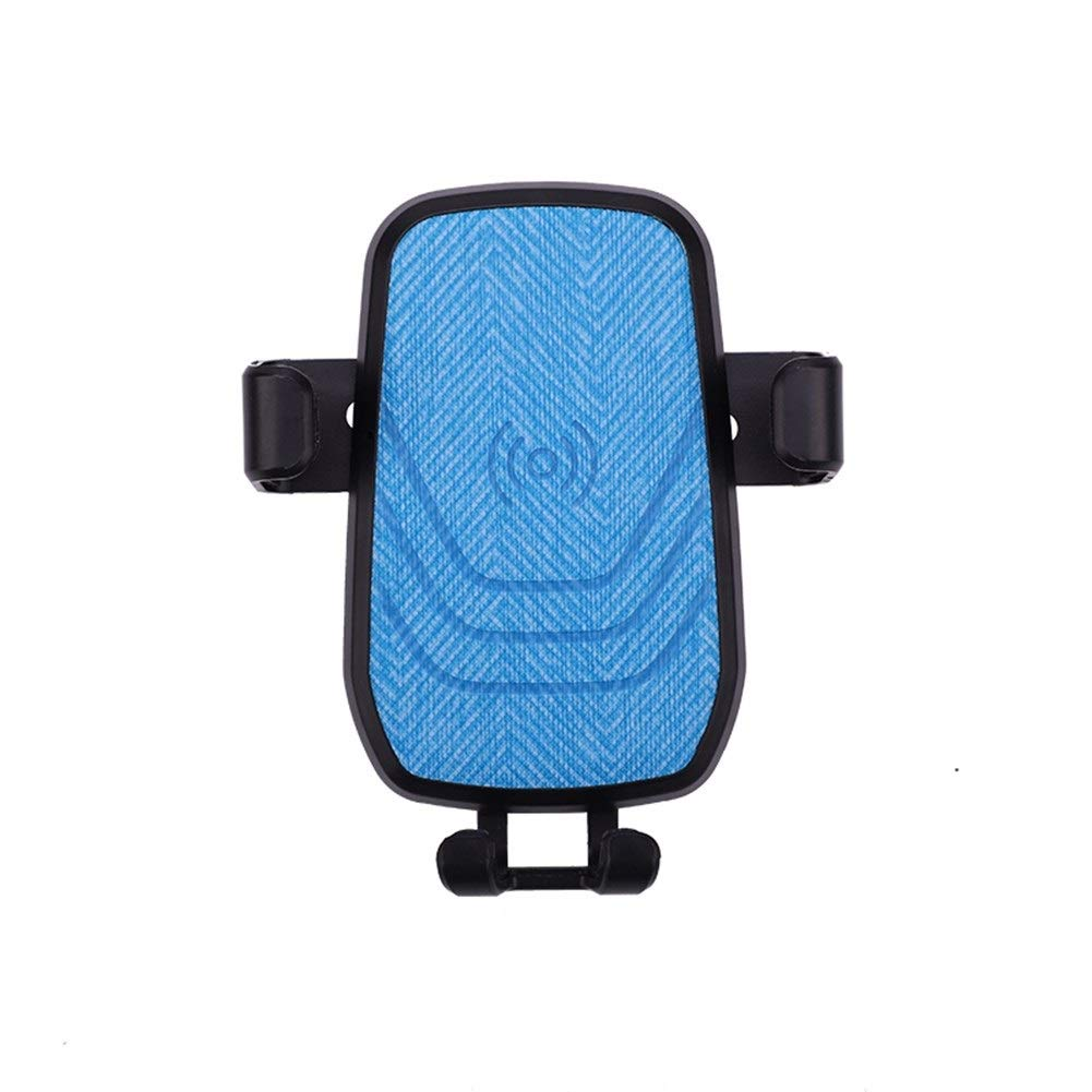 Wireless Car Charger Mount, with 10W Qi Fast Auto Clamping Phone Holder (Color : Blue)