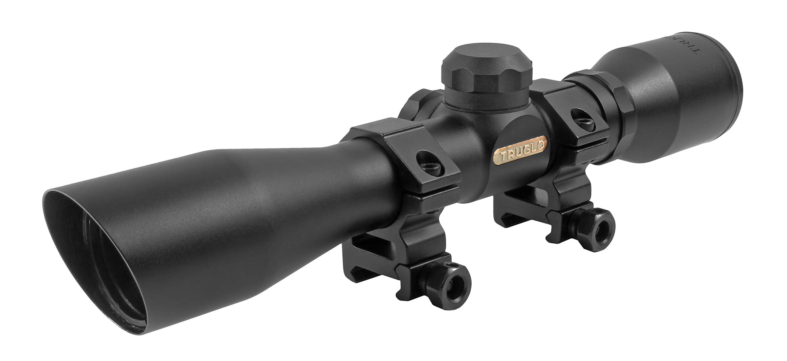 TRUGLO 4x32mm Compact Rimfire and Shotgun Scope Series, Diamond Reticle, Black by TRUGLO