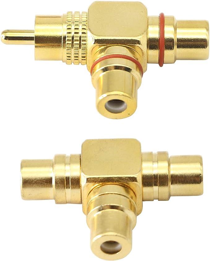 Cinch Splitter Rca Stecker Auf 2rca Buchse Adapter 1 Elektronik