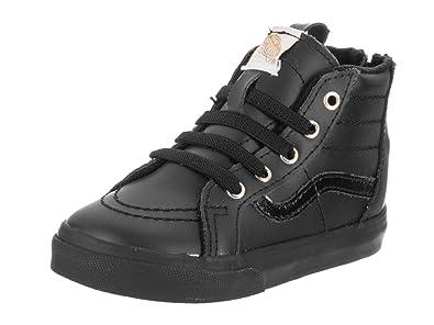 Amazon.com  Vans Sk8-Hi Zip (Toddler) Black Gold  Shoes 8d999494a5