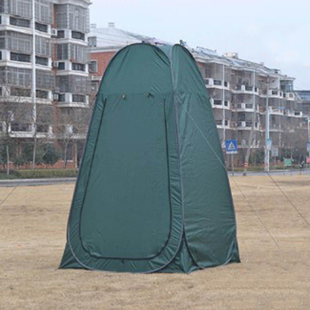 CLDBHBRK Doppelt Erhöhen, Ansteigen Baden, Dressing Zelt Feld Mobile Toilette, Angeln WC Zelt Modellwechselkleidung Faltbar Tragbar Grün
