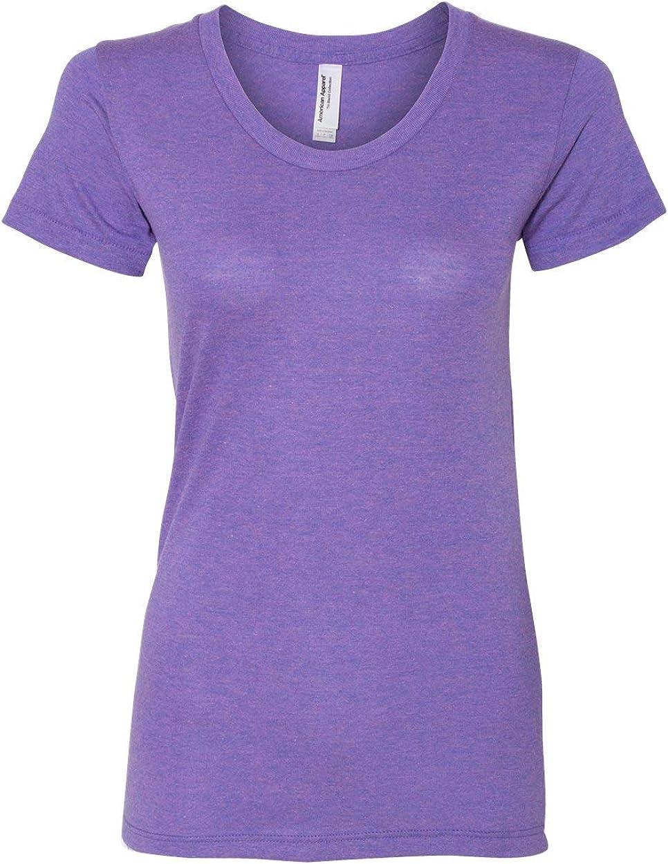 American Apparel TR301W Ladies Triblend Short-Sleeve Track T-Shirt