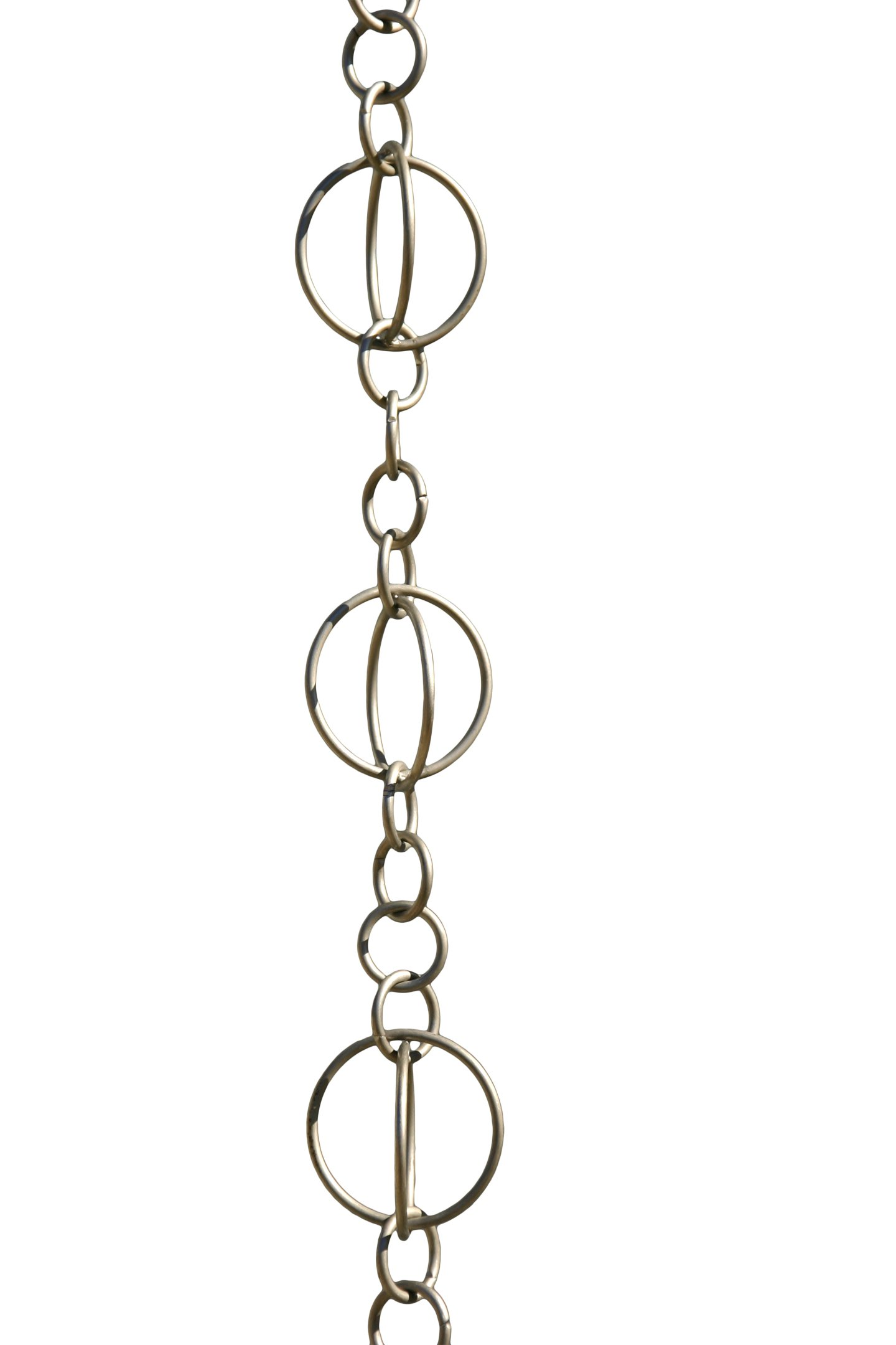 Patina Products R263  Brushed Stainless Life Circles Rain Chain Full Length