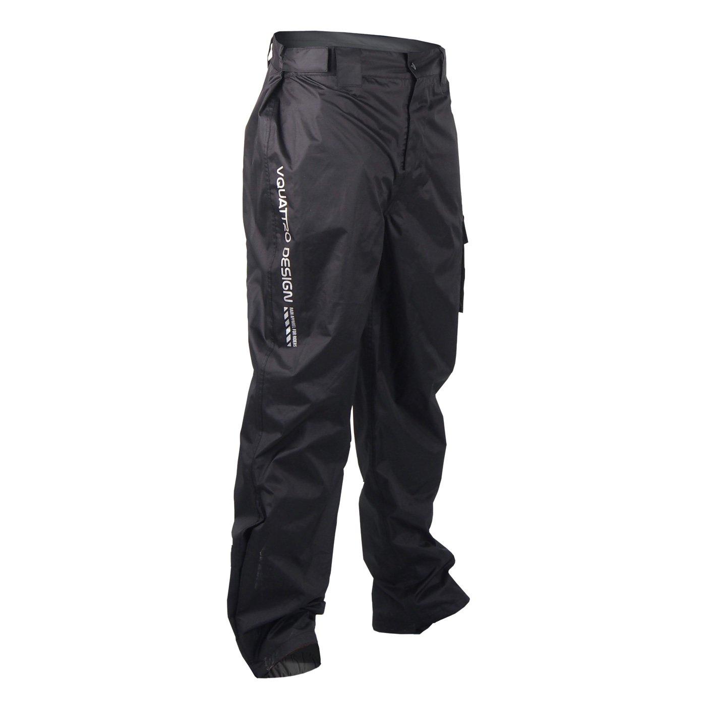 V Quattro Design Pantalon de Pluie Fracto Visio Taille 2XL Noir