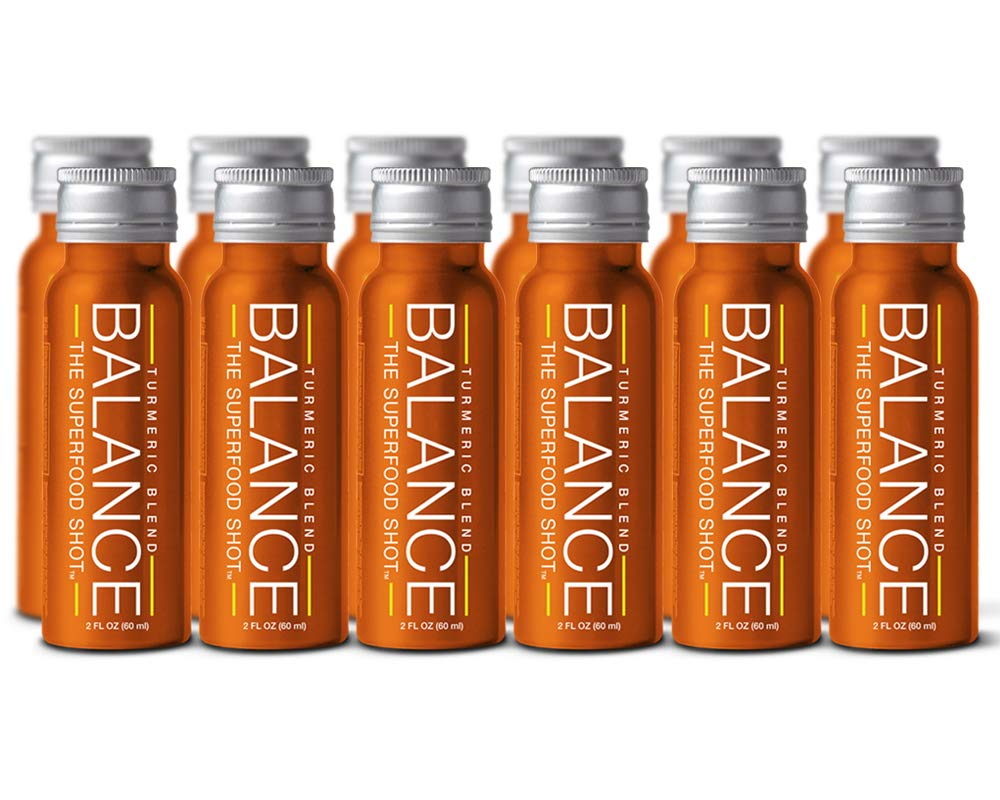 Turmeric Superfood Shot, Organic Turmeric, Fruits, and Vegetables, Black Pepper with Curcumin, Take on The Go, No Messy Powder, Perfect Post Workout, 2oz. Serving, Vegan, Gluten-Free (12 Pack)