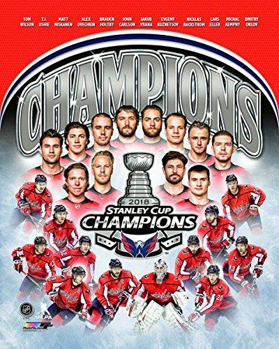 Washington Capitals Stanley Cup Champions Team Composite Photo (Size: 8