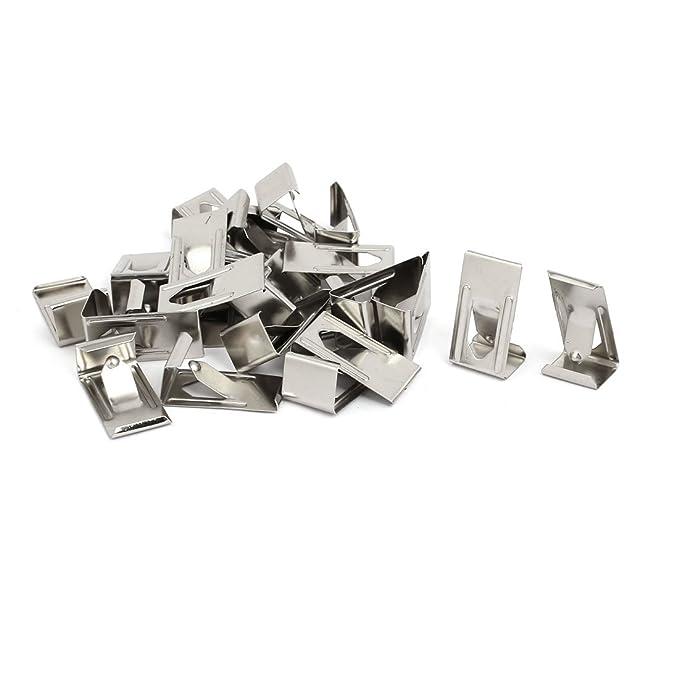 sourcingmap 26mmx14mm Clip de Muelle de metal en forma redonda para fotografías tono plata 25pcs: Amazon.es: Bricolaje y herramientas