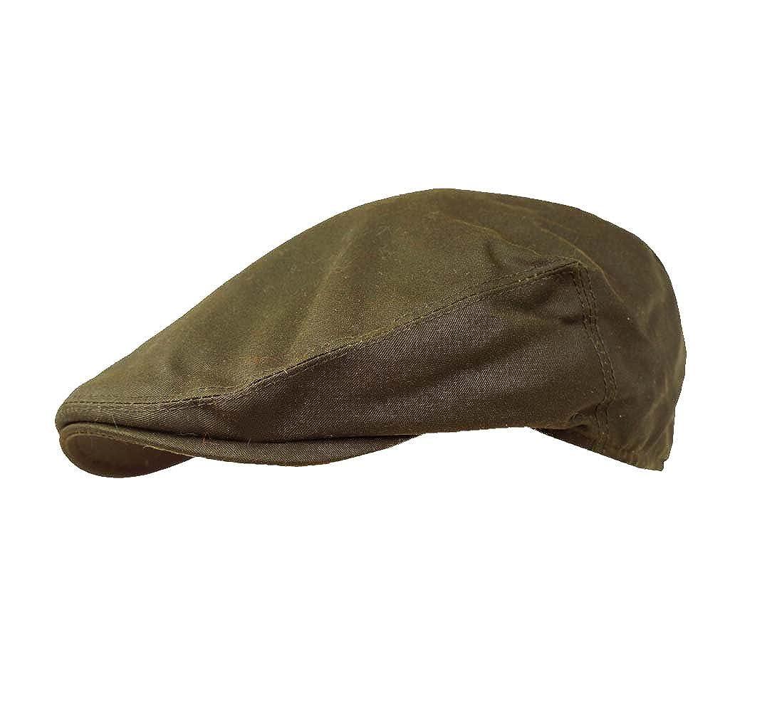 Failsworth Hats Wax Flat Cap Earland Brothers Olive Green Wax