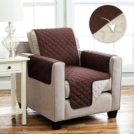 Tivedointv - Exclusivo y Suave Funda Acolchada para sillón Universal, Adaptable también en sillones reclinables de Doble Cara, Reversible, Color ...