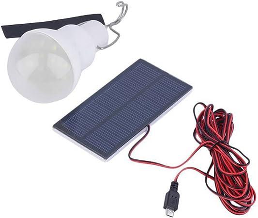 150LM 2.5W Lampe Solaire Extérieur, Ampoule Portable LED