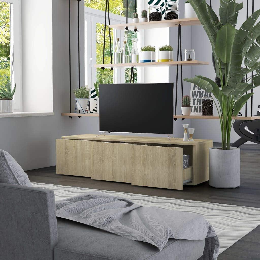 UnfadeMemory Mobile TV Con 3 Cassetti Grigio Cemento 120x34x30 cm in Truciolato
