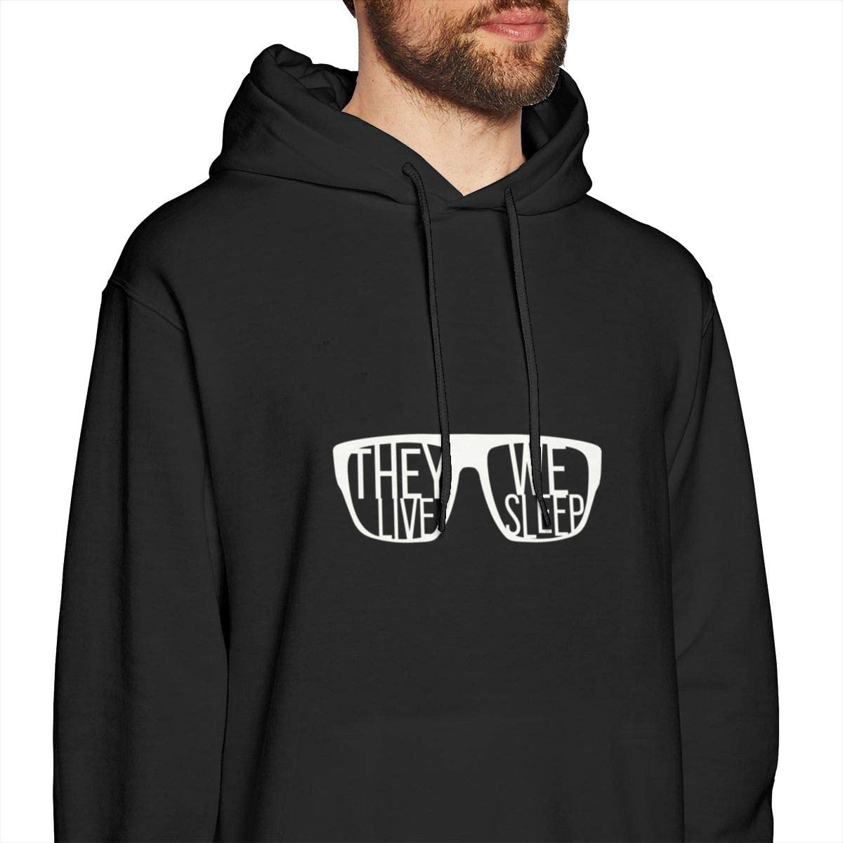 They Live,We Sleep Mens Hooded Sweatshirt Theme Printed Fashion Hoodie