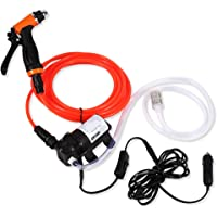 GOTOTOP Electrical Car Wash Pump-12V Dc Portable High Pressure Self-Priming Quick Car Cleaning Water Pump Electrical Washer Kit For Watering Cleaning Home Car Use With Spray Hose Power Cord Input Hose
