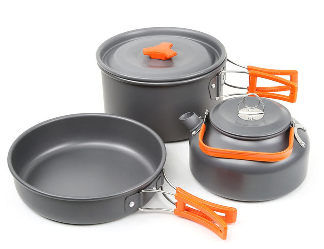 Collection Here 1 To 2 People Camping Cookware Kit Portable Kitchen Pan Pot Set Suitable For Hiking Camping Fine Quality Camping & Hiking Sports & Entertainment