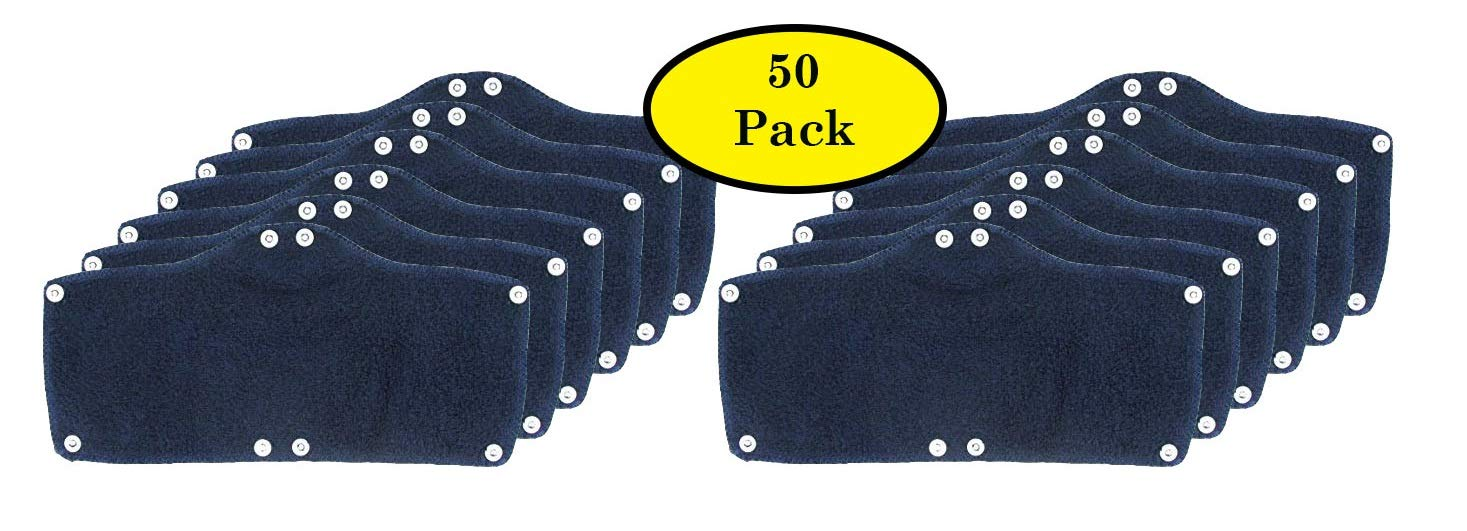 50 Pack Best Hard Hat Sweatband Navy Blue Washable Snap On Sweat Band Liner Safety Accessories