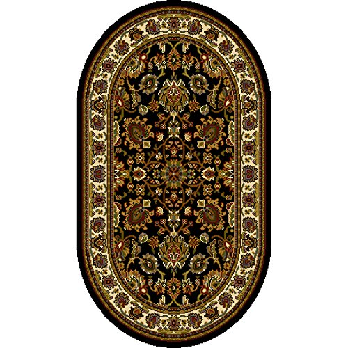 home dynamix royalty collection oval area rugs 31 by 50inch black