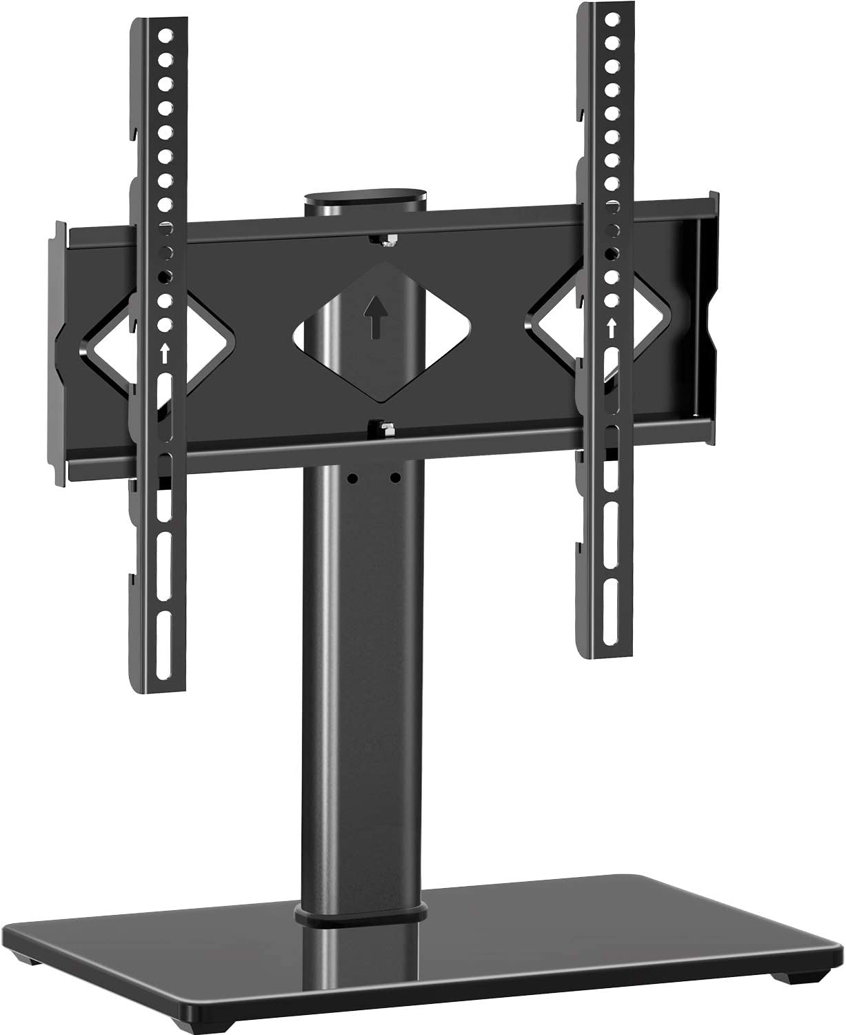 Universal TV Stand with Mount for 27-50 Inch LED LCD OLED Flat Screen Max VESA 400x400mm MU0003 MOUNTUP Table Top TV Stand Height Adjustable Swivel TV Stand Base