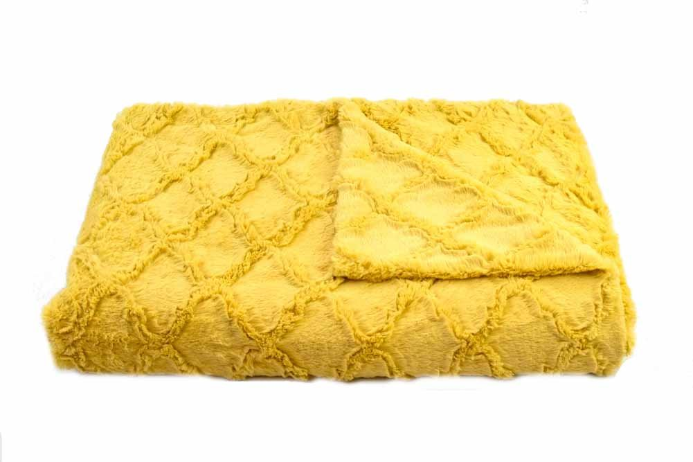 Tourance Luxury Throw Double Size DT-MR-008 B0178JLCNE Moroccan Antique Mustard Double Size