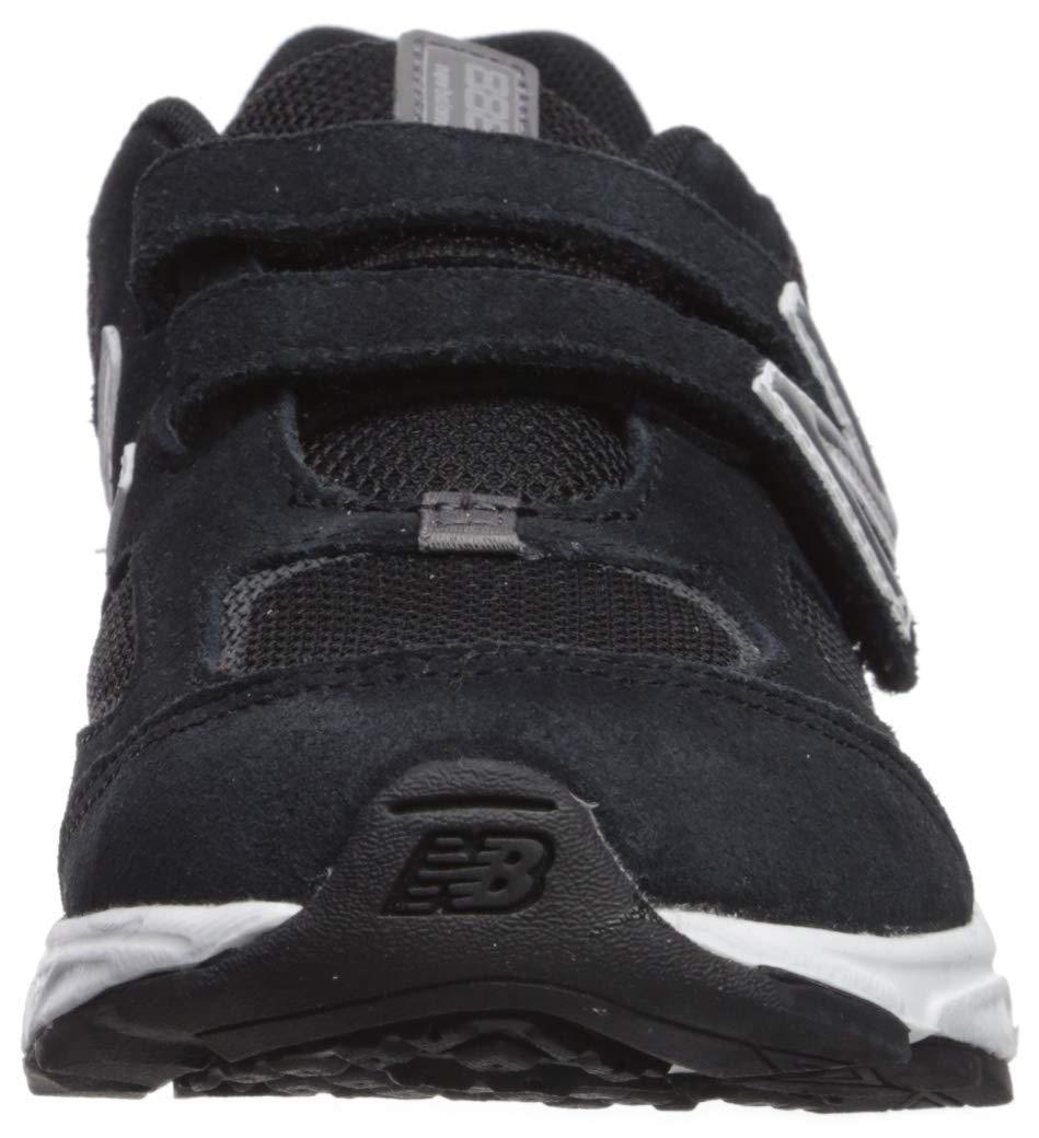 New Balance Boys' 888v2 Hook and Loop Running Shoe, Black/Grey, 2 XW US Infant by New Balance (Image #4)