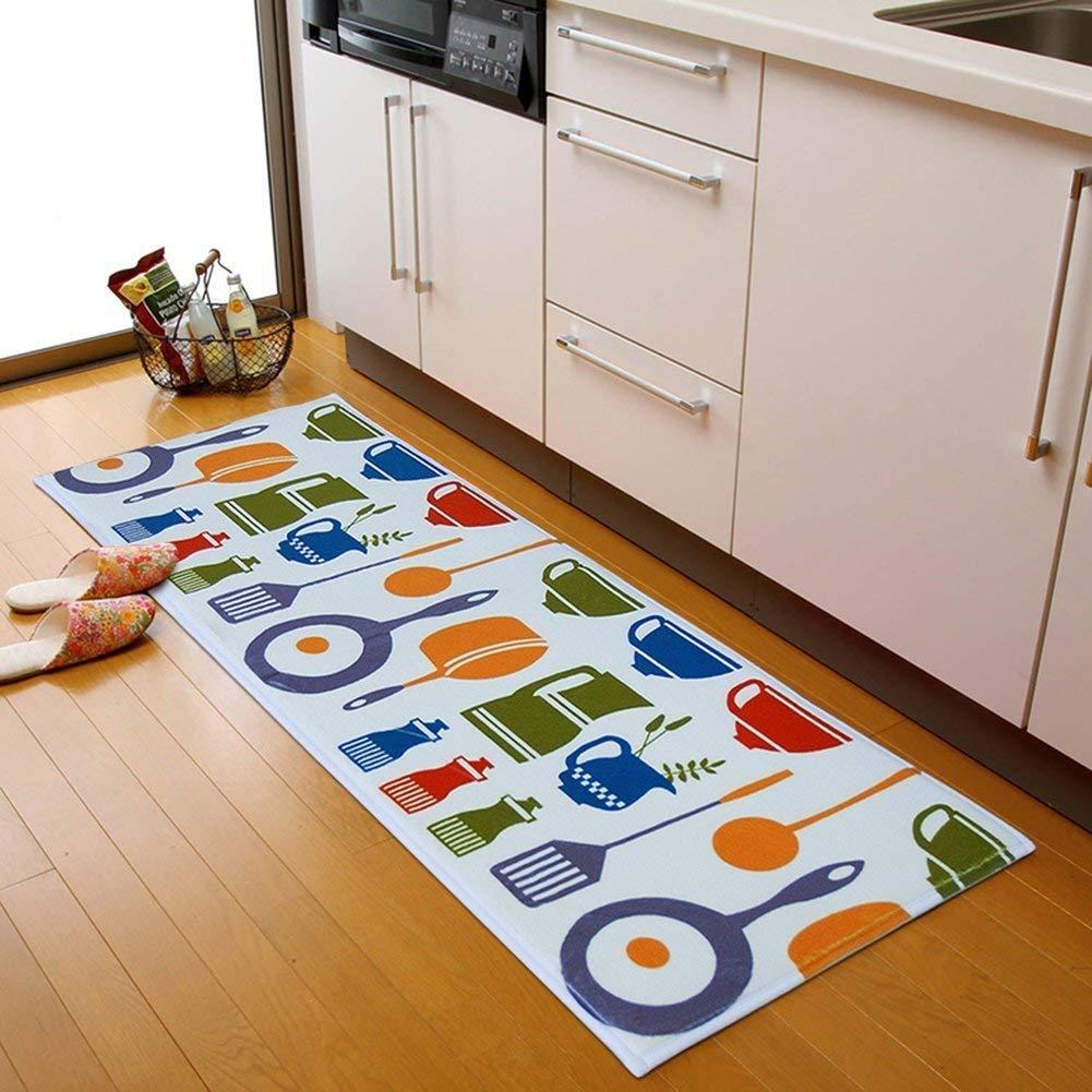 A.B Crew Modern Kitchen Floor Carpet Washable Bathroom Rug Kitchen Non-Slip Runner Rug (Kitchen Ware, 15.75'x23.62') 15.75x23.62)