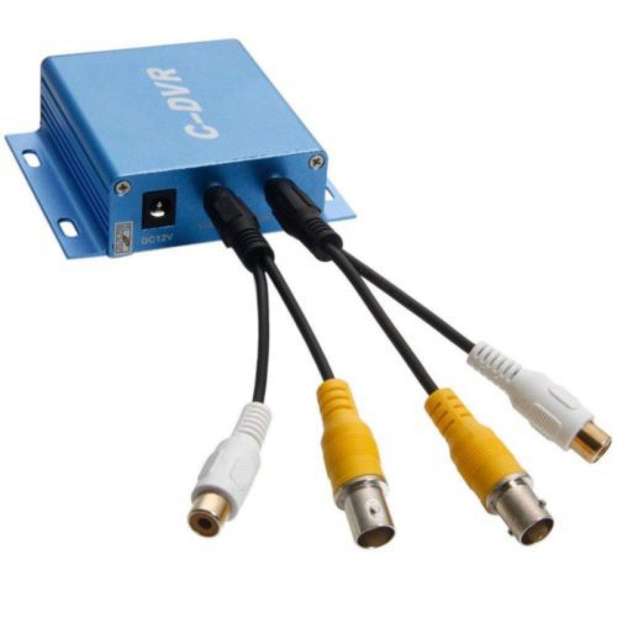 Grabador de vídeo y audio digital DVR de tamaño mini, portátil, para cámara de vigilancia, graba la entrada y salida