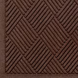 "Andersen 221 Waterhog Fashion Diamond Polypropylene Fiber Entrance Indoor Floor Mat, SBR Rubber Backing, 6' Length x 6' Width, 1/4"" Thick, Dark Brown"