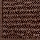Andersen 221 Waterhog Fashion Diamond Polypropylene Fiber Entrance Indoor/Outdoor Floor Mat, SBR Rubber Backing, 4' Length x 3' Width, 3/8'' Thick, Dark Brown