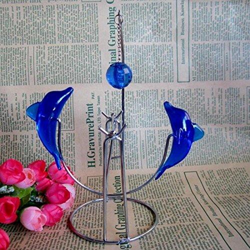 Xiaolanwelc Balanc/ín delfines Manual perpetuo movimiento juguete casa oficina escritorio Decor adornos creativos regalos