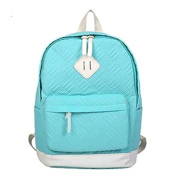 Mochila Escolar Niña, Mochilas Mujer Casual Unisexo, Mochilas Escolares Juveniles, Sencillo Vida Girls Backpack School Bag, Solid Color: Amazon.es: Equipaje