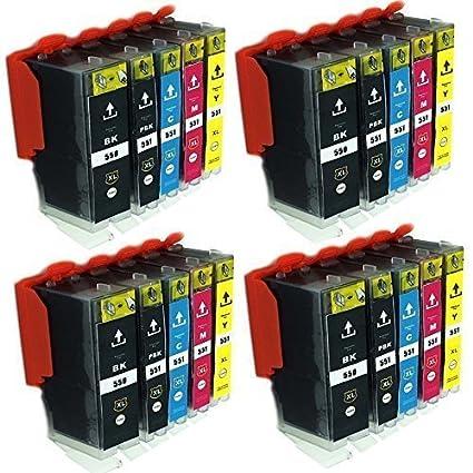 ESMOnline - Cartuchos de tinta (20 unidades, compatible con Canon ...