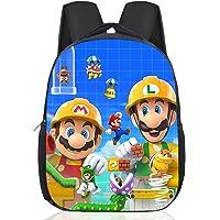 Nesloonp Mario Bros Mochilas Escolares, Mochilas Super Mario Mochila escolar para niños, Mochila Escolar para niños y…
