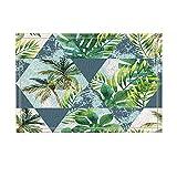KOTOM Abstract Jungle Decor, Watercolor Tropical Leaves and Palm Trees Bath Rugs, Non-Slip Doormat Floor Entryways Indoor Front Door Mat, Kids Bath Mat, 15.7x23.6in, Bathroom Accessories