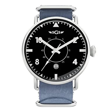 SGS Eagle ASWN - Reloj piloto de cristal de zafiro automático para hombre: Amazon.es: Relojes