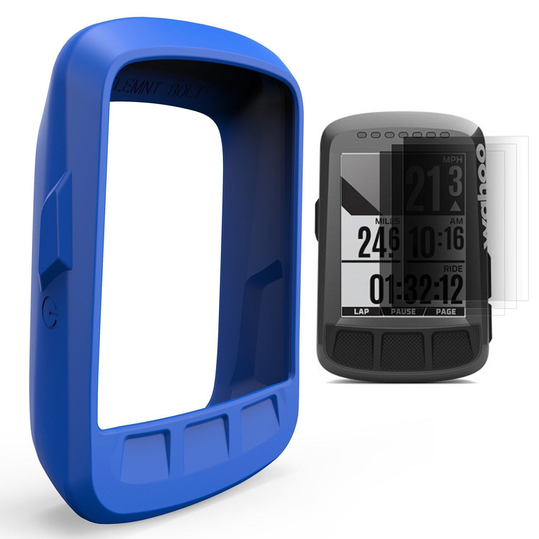 TUSITA Étui avec protecteur d'écran pour Wahoo Elemnt Bolt, ordinateur de vélo pour ordinateur portable Housse en silicone Housse pour peau