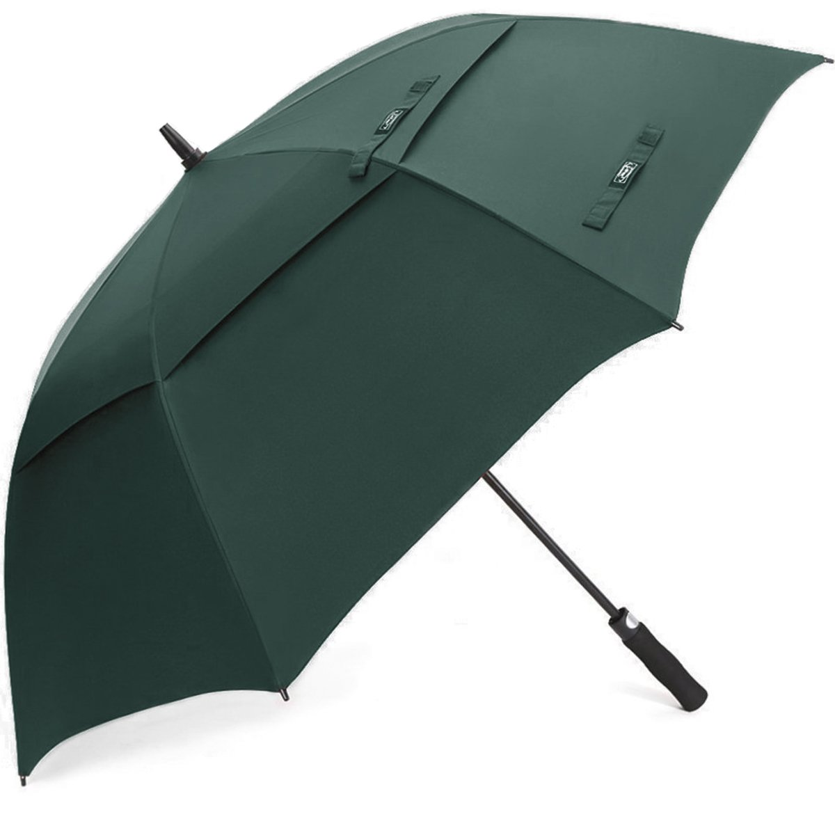 G4Free 62 inch Golf Umbrella Double-Canopy Large Oversize Rain Windproof Waterproof Automatic Collapsible Best for Men (Dark Green)
