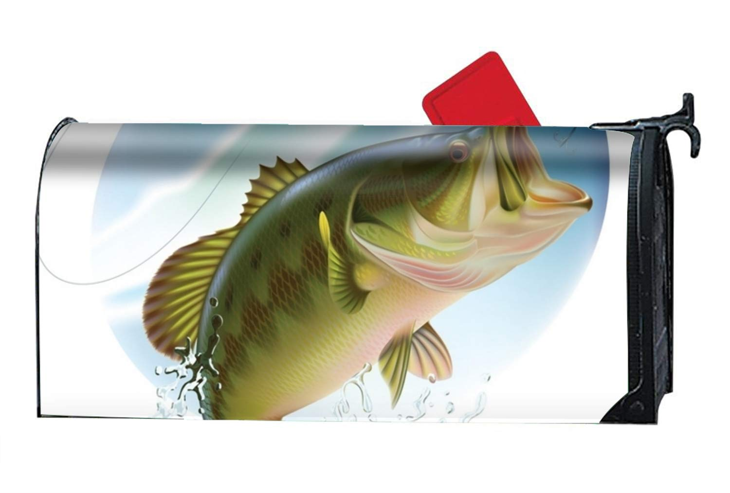 XW-FGF Mailbox Covers Big Bass Catches Mailbox Covers Household, Garden and Courtyard Magnetism