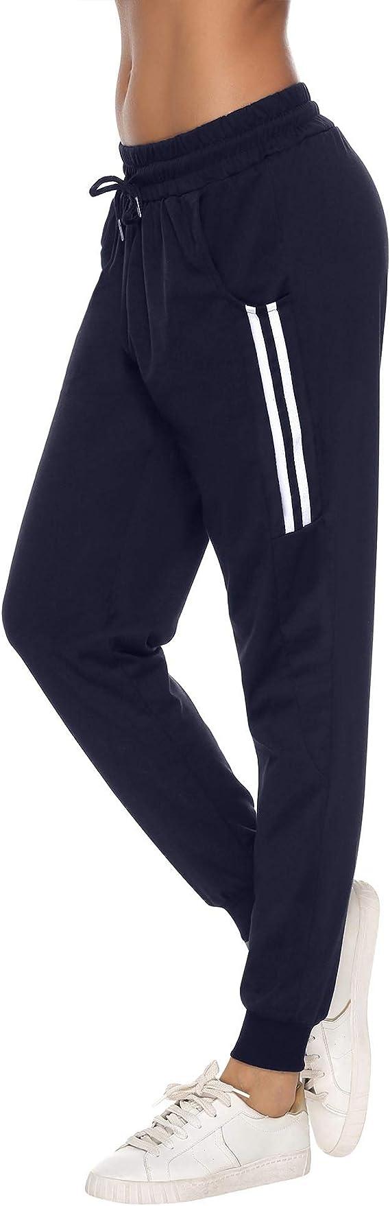 Pantalones Ligeros y Suaves Pantalones de Fitness c/ómodos Sykooria Pantalones de Ocio para Mujer Pantalones de Jogging Pantalones de Campana Pantalones Deportivos con Cinta de Bolsillos
