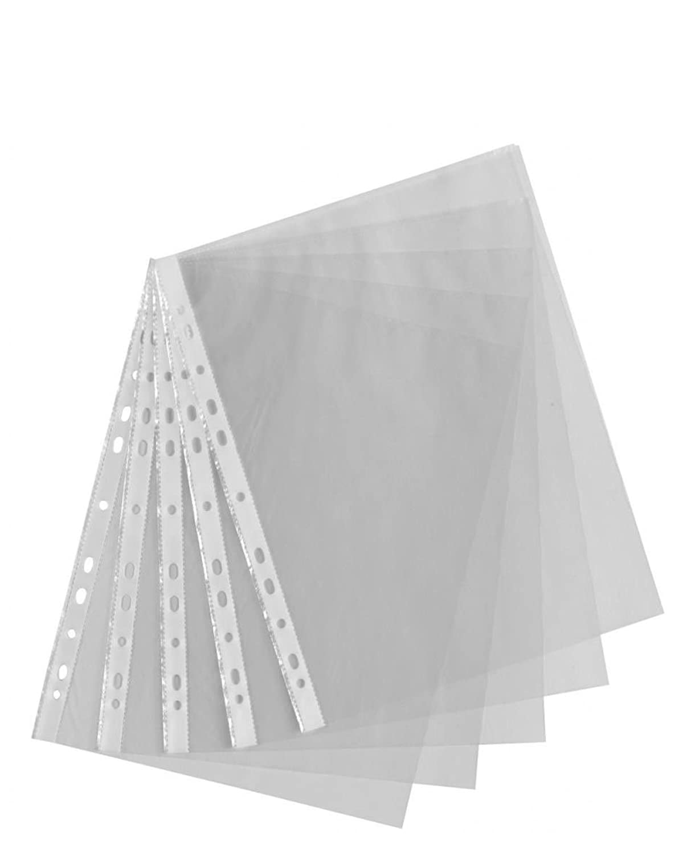 100/x A4/trasparente plastica buste punch cartelline portadocumenti portafogli maniche
