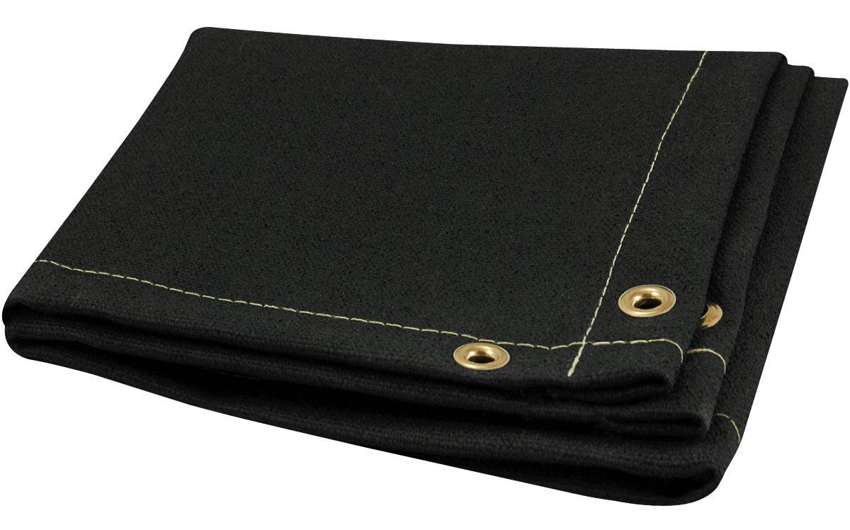 Steiner 397-6X8 Z-Flex 26-Ounce Vermiculite Coated Fiberglass Welding Blanket, Black, 6' x 8' 6' x 8' ERB