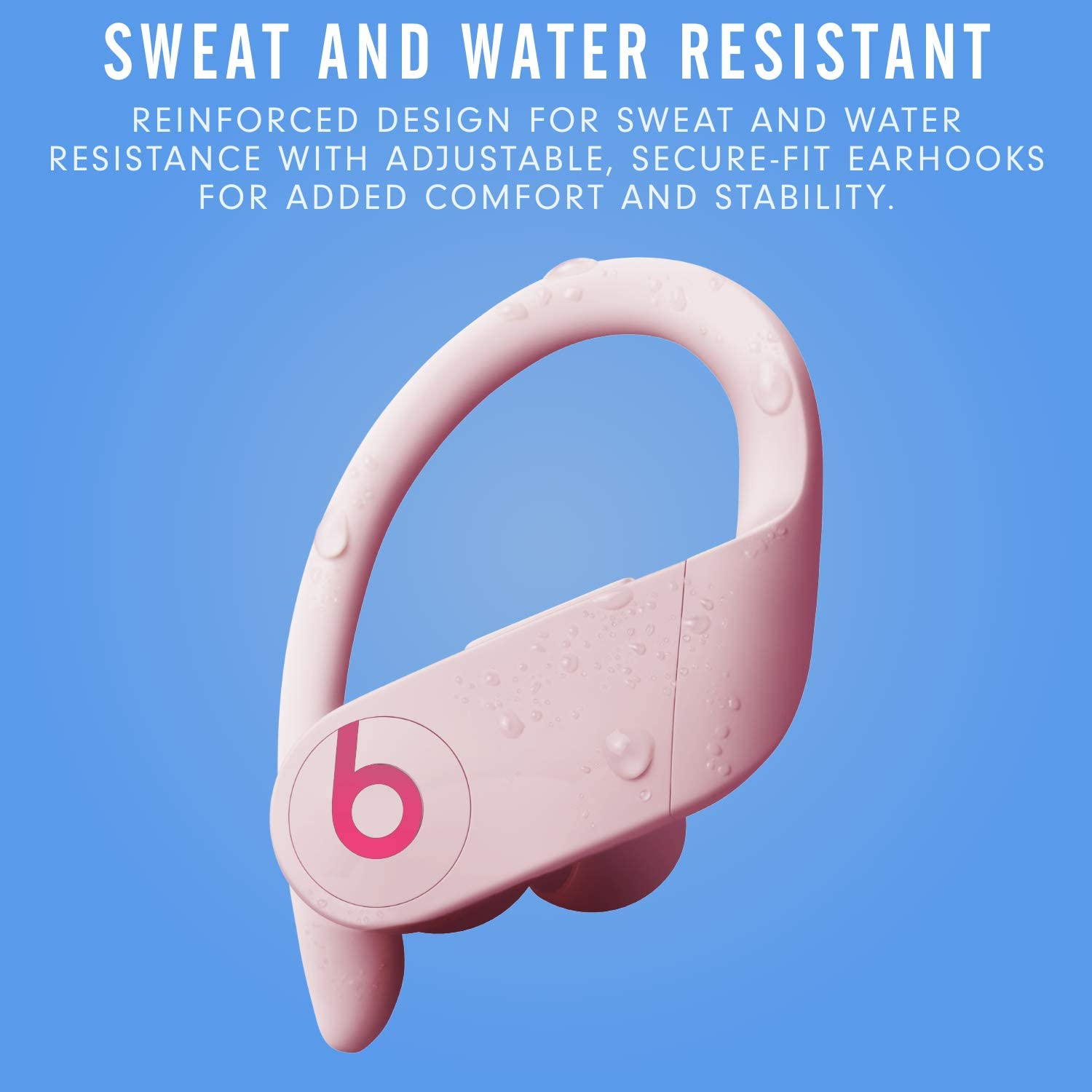 9 Hours of Listening Time Class 1 Bluetooth Apple H1 Headphone Chip Cloud Pink Sweat-Resistant Earbuds Powerbeats Pro Totally Wireless Earphones