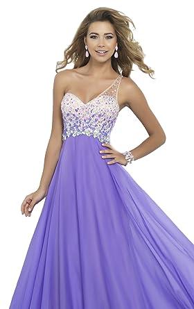 Passat Lavender One Shoulder Sexy Prom Dresses Size US2