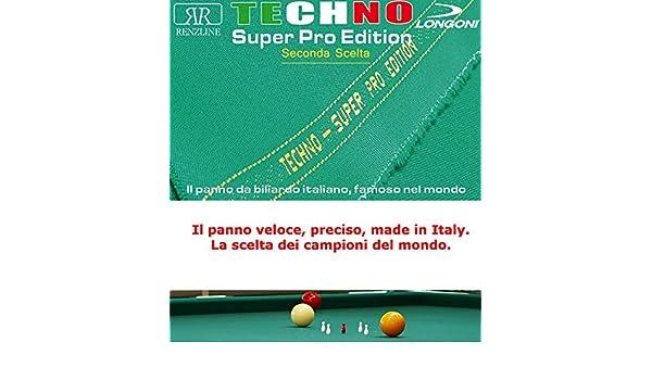 Paño billar Internacional 5 Birilli Longoni Techno Super Pro Edition 2ª elegir, corte gamuza cm.305 Cubierta Piano Billar con campo Juegos cm.280 x 142 y pizarra cm.302 x 160.: Amazon.es: Deportes y