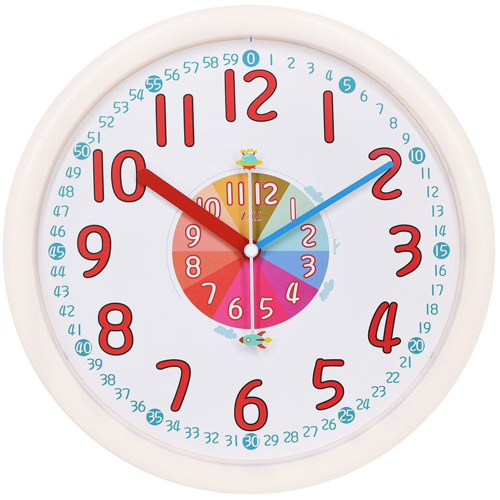 Txl Kids Wall Clock Baby Nursery Large 12 Wall Clock In Kids Room
