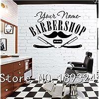2016 NEW Hair Salon Sticker Decal Hair Gentleman Posters Shave Wall Art Decals Barber Shop Parede Decor Decoration Mural Salon Sticker