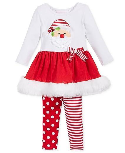 - Amazon.com: Bonnie Jean Girls Santa Christmas Holiday Red Set: Clothing
